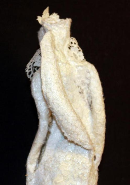embriodered figure, Ice Queen, detail