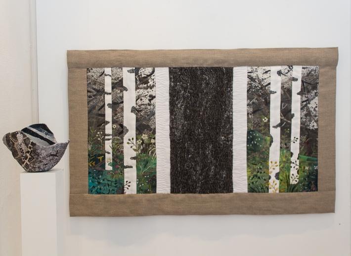 My Forest / Min skog, min stam, min skog, triptyk 74 x 120 cm